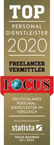 TOP Personaldienstleister Freelancer Vermittler 2020