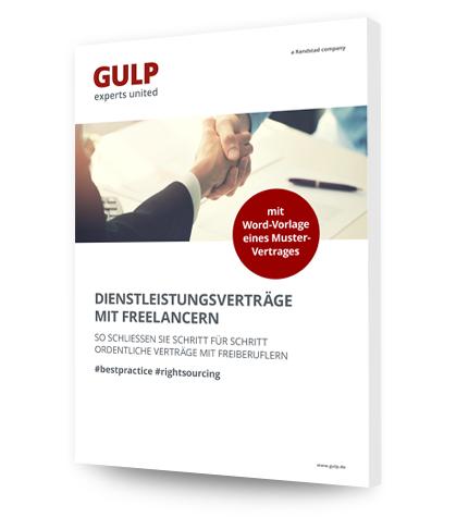 Dienstleistungsvertrag Mit Freelancern Schließen Gulp Direkt